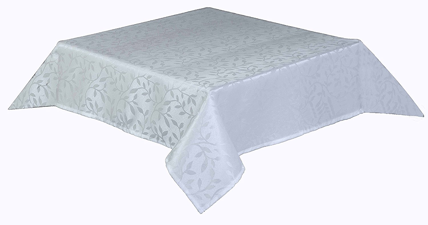 Bowdon Tablecloth White 89cm 35 Quot Round With Leaf