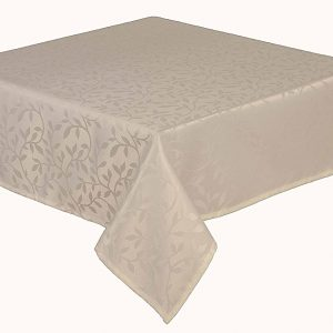 Bowdon cream round tablecloth