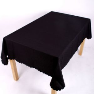 Shell Tablecloth Black 137x178cm Oval