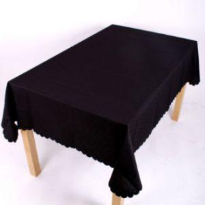 Shell Tablecloth Black 137x178cm Oval