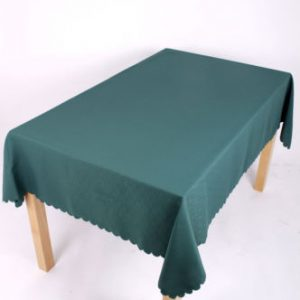 Shell Tablecloth Bottle Green 137x178cm oval