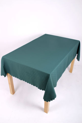 Shell Tablecloth Bottle Green 137x229cm Oblong