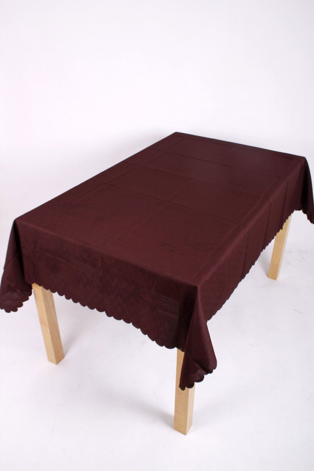 Shell Tablecloth Chocolate Brown 137x178cm Oval