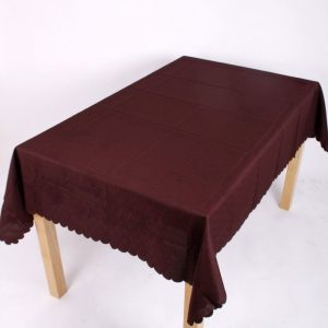 Shell Tablecloth Chocolate Brown 137x229cm Oblong