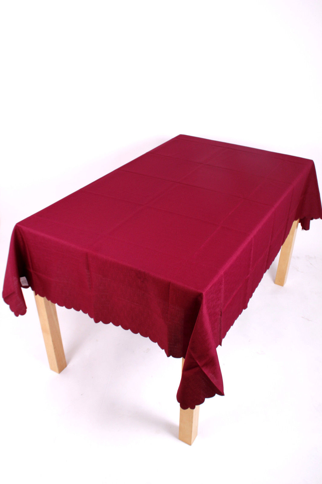 burgundy polyester tablecloth