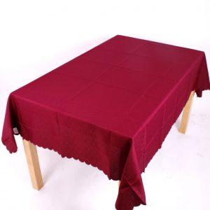 burgundy polyester tablecloth
