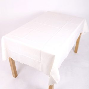 cream polyester tablecloth