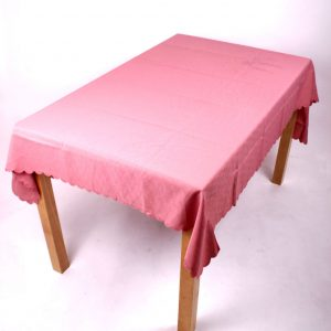 pink polyester tablecloth