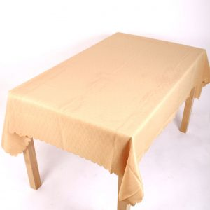 Shell Tablecloth Gold 137x178cm Oval
