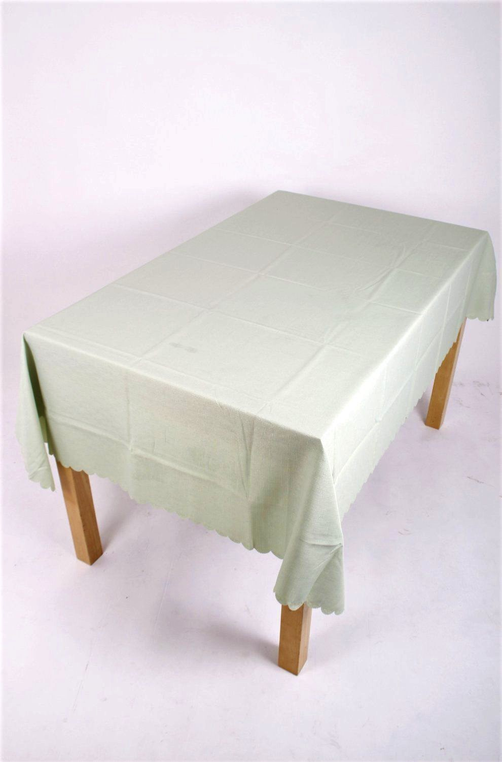 light green polyester tablecloth