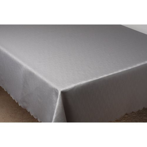 silver polyester tablecloth