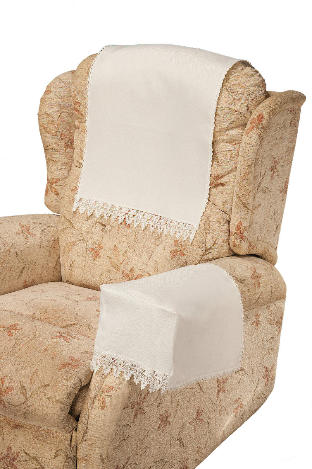 Comet White Chair Arm Covers By Easycare Tablecloths