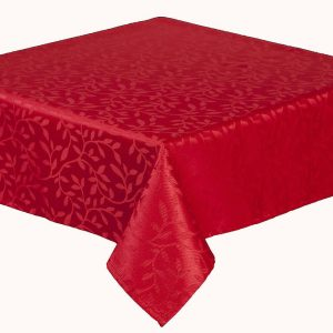 Bowdon red oblong tablecloth