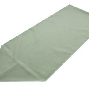 light green polyester table runner