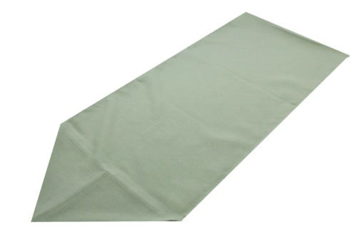 light green polyester table runner