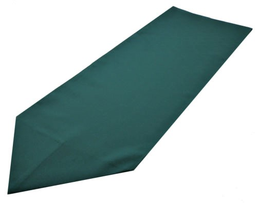 green polyester table runner