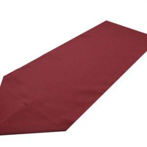 burgundy polyester table runner