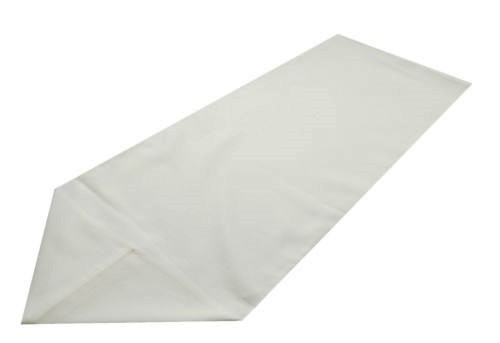 White polyester table runner