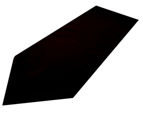 black polyester table runner