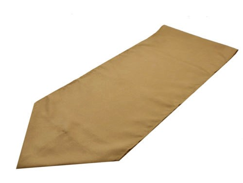 gold polyester table runner