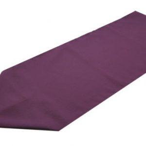 aubergine polyester table runner
