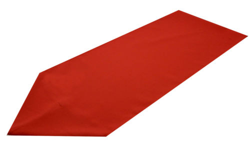 red polyester table runner