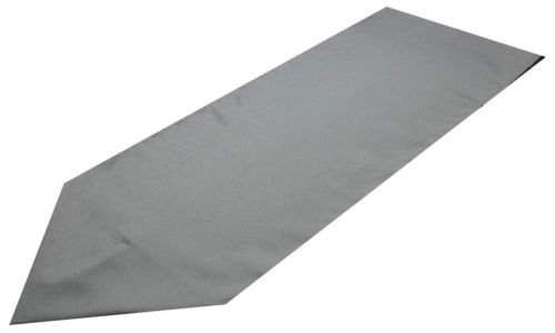 silver polyester table runner