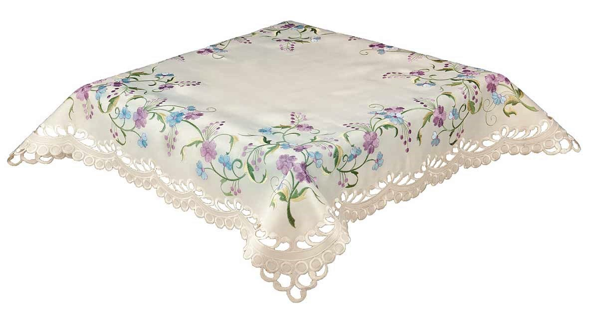 Elsie embroidered lilac blue floral cut work ivory