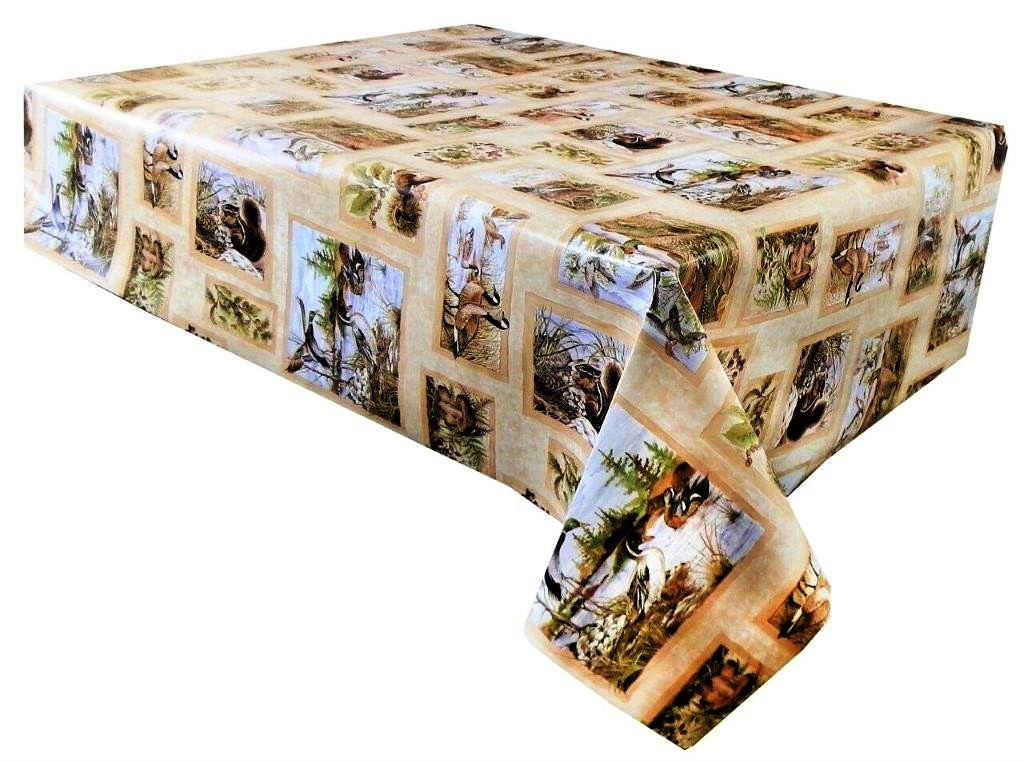 Brown duck vinyl tablecloth