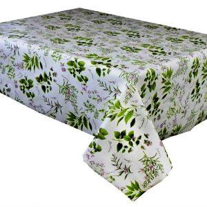 Herb garden vinyl tablecloth