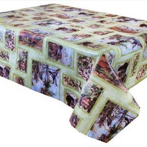 Country scene vinyl tablecloth