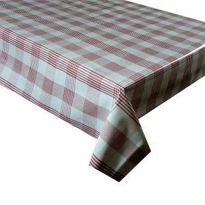 Red check vinyl tablecloth