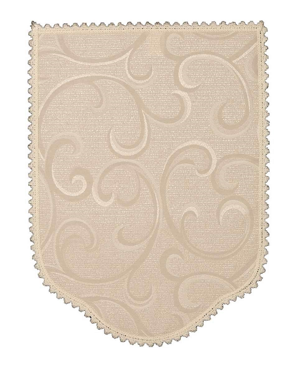 Scroll Light Cream 6 Chair Arm Covers And 5 Chair Backs