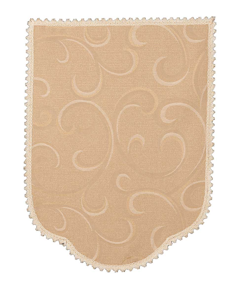 Scroll Deep Beige 6 Chair Arm Covers And 5 Chair Backs