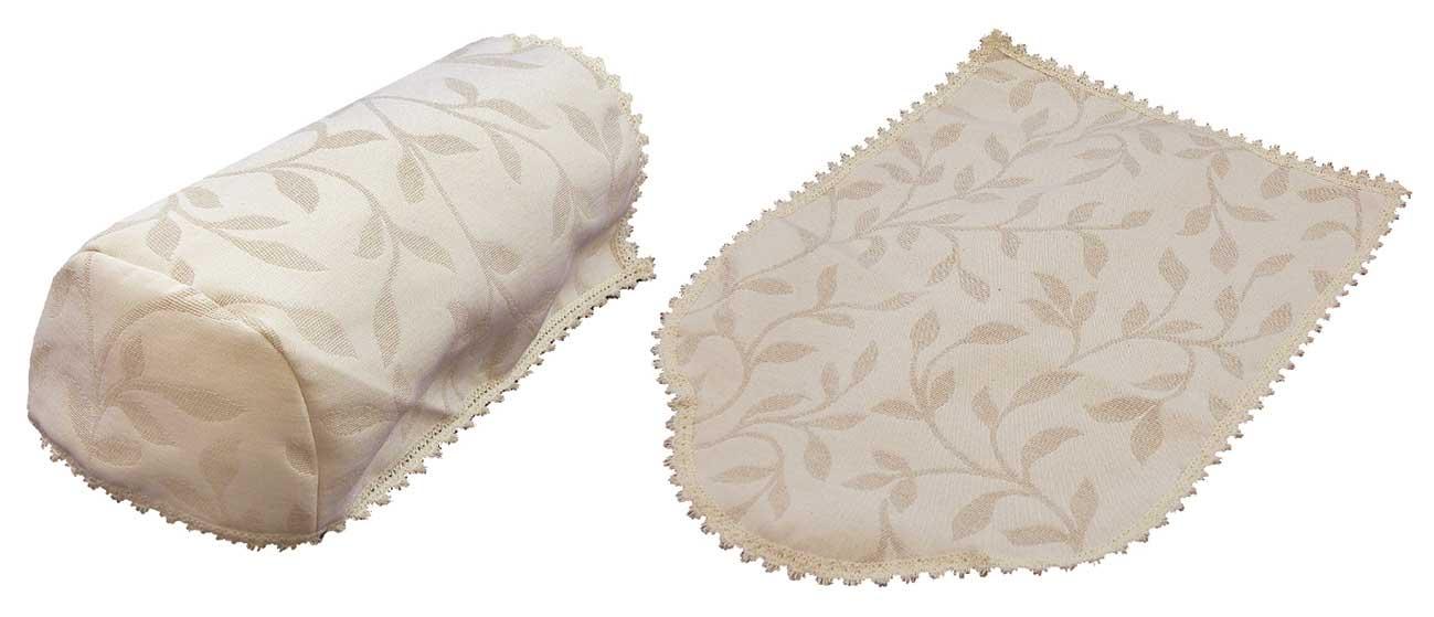 Modern Leaf Jacquard 6 Arm Covers And 5 Chair Backs Cream