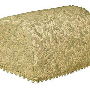 Green matelasse chair covers