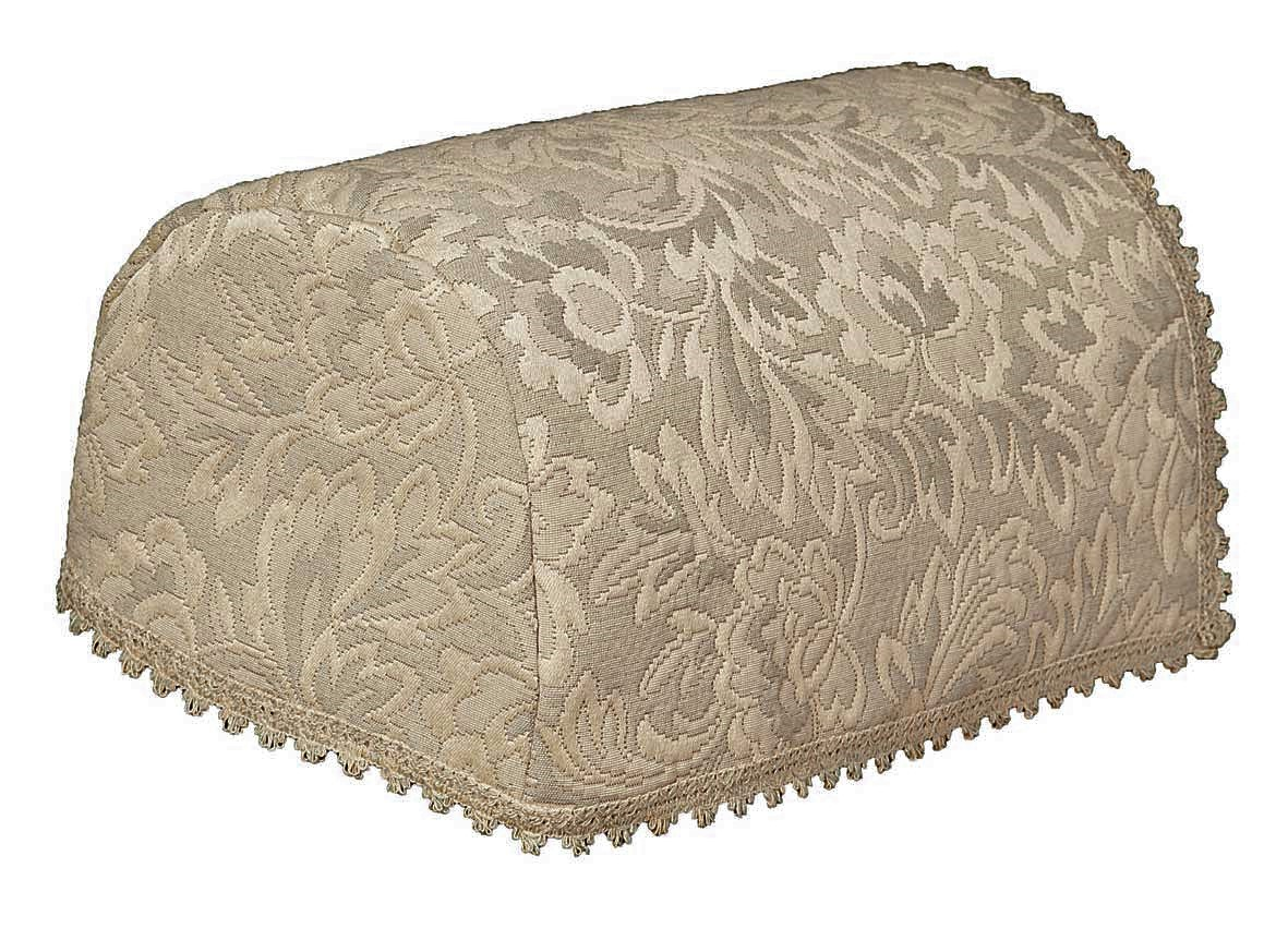 Floral Matelasse 6 Arm Covers And 5 Chair Backs Taupe