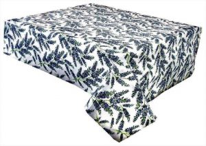 lavender vinyl tablecloth
