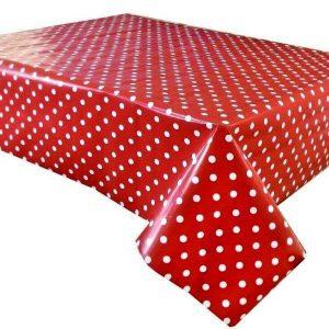 Polka-dot Vinyl Tablecloths