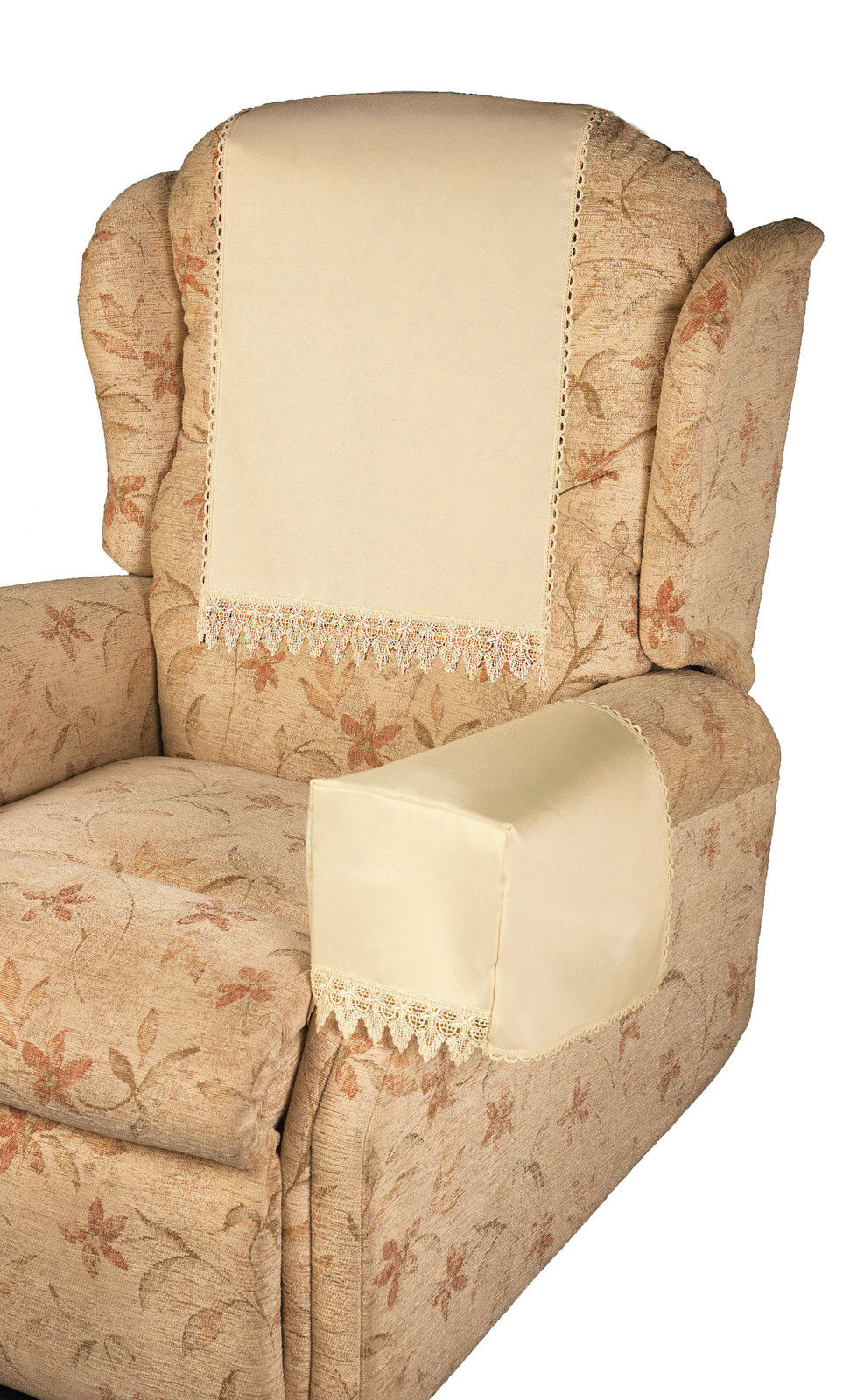 Comet cream 6 chair arm covers