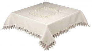 White tablecloths