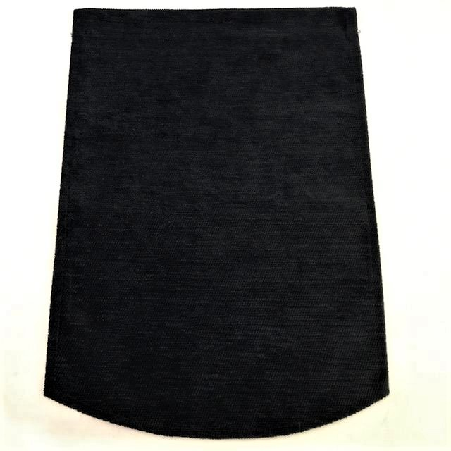 Quality Black Chenille chair back covers