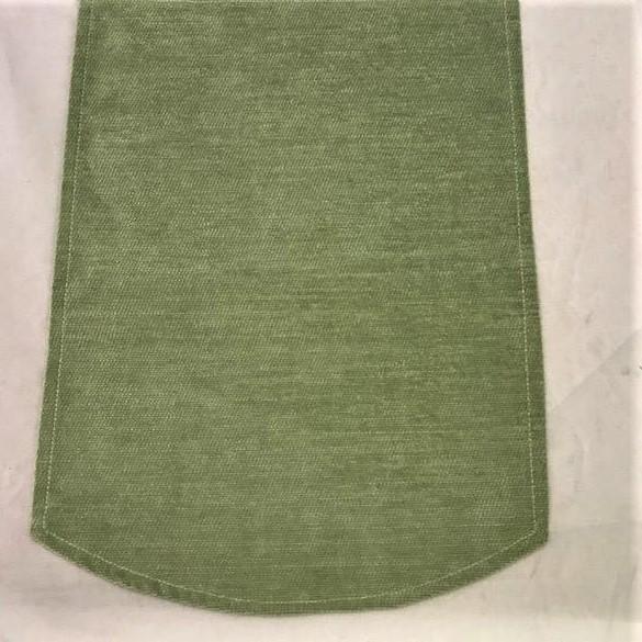 Green chenille chair backs