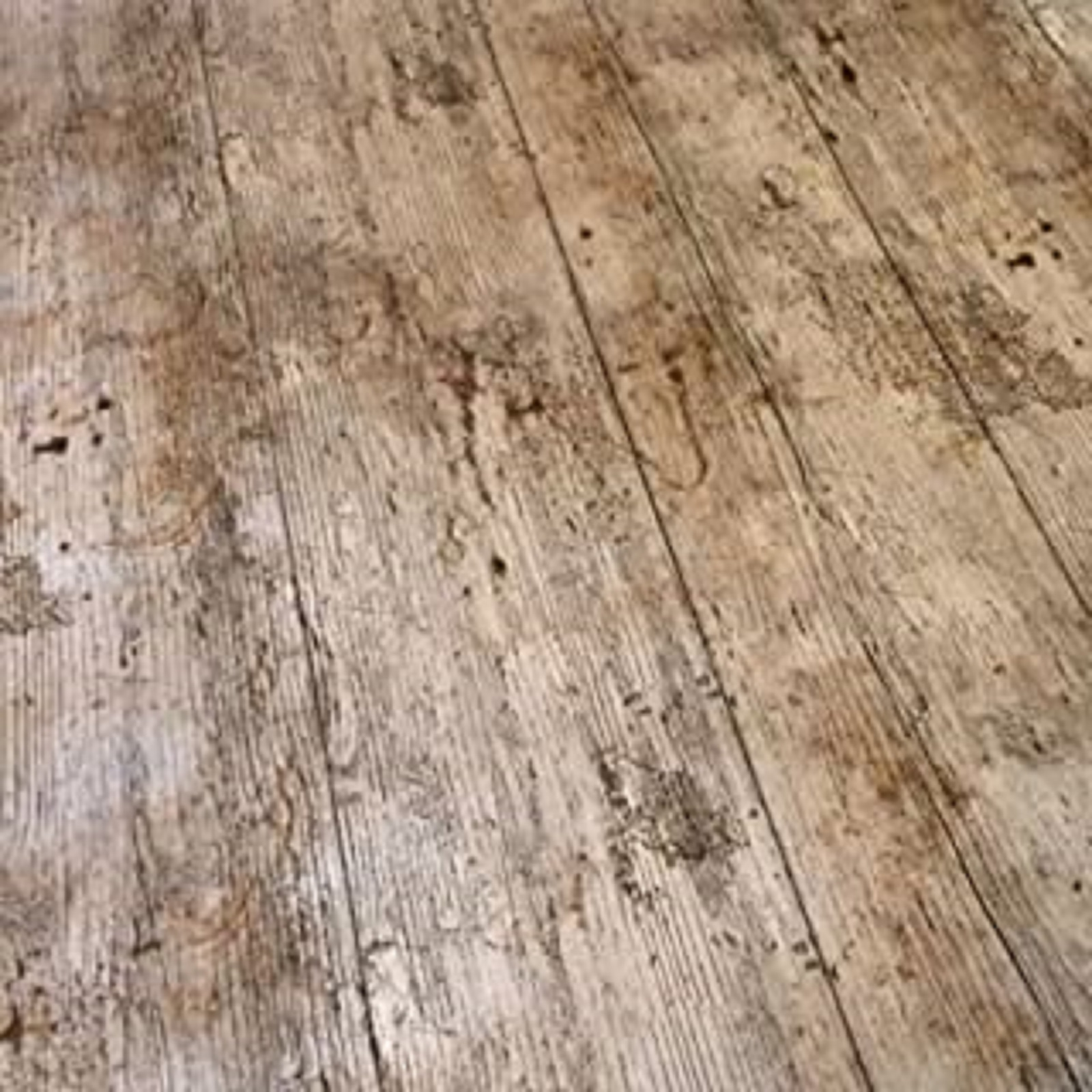Brown Floorboards Vinyl Tablecloth