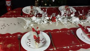 Christmas Tablecloths closeup