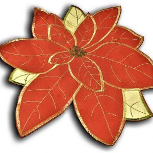 "Poinsettia grande place mats 30x30cm (12x12""), ideal for Christmas"