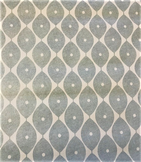 Light Morrocan grey vinyl tablecloth 54 inch wide