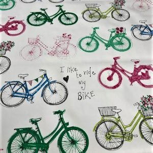 Bicycles vinyl tablecloth
