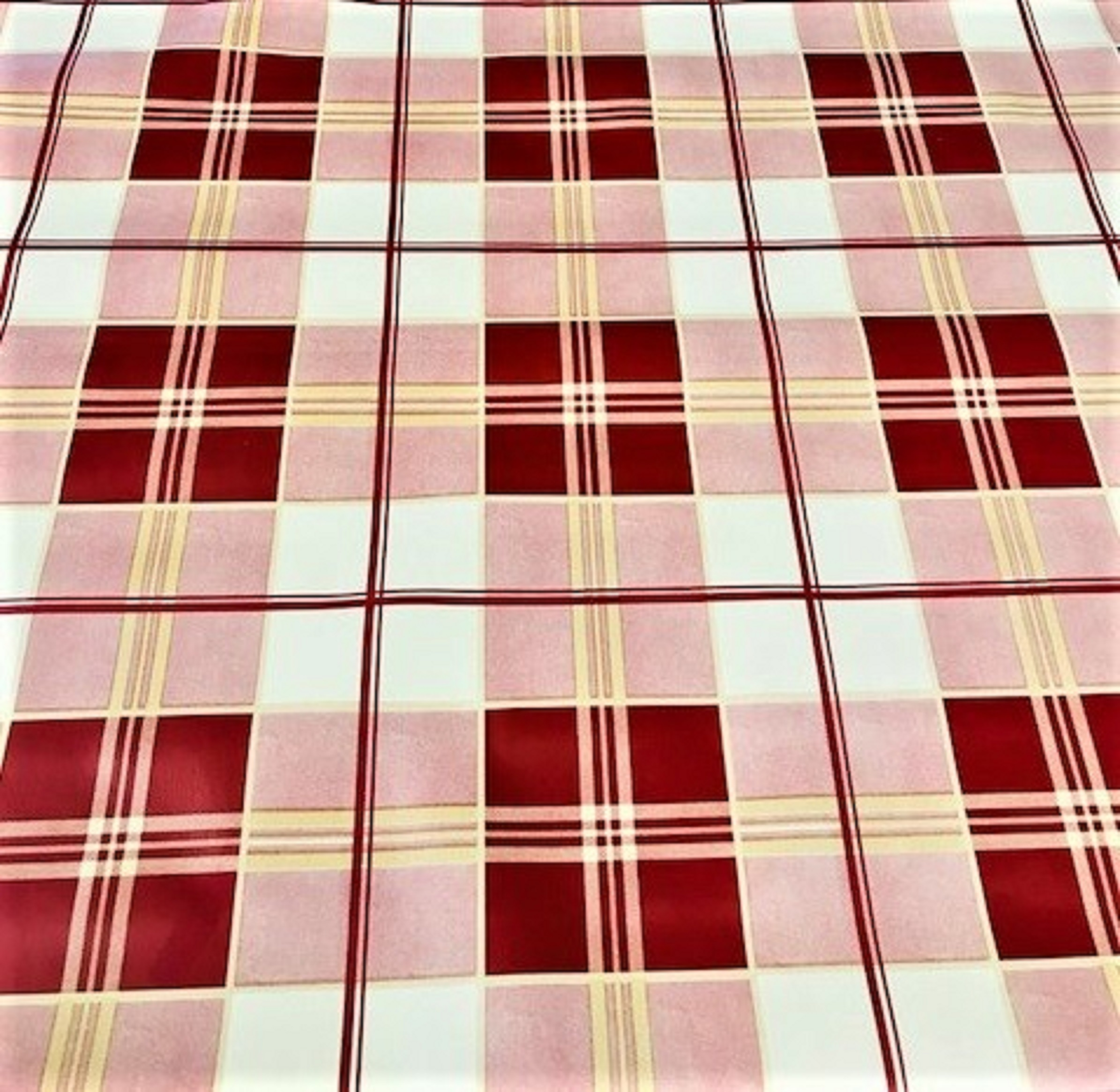 Tartan Wine vinyl Tablecloth