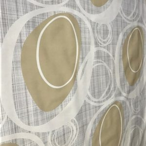 Coffee Contours vinyl tablecloth